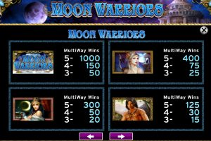 moon warrior slot machine