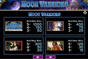 moon warrior slot machine